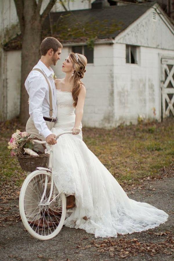 Pon una bicicleta vintage en la decoraci n de tu boda wedding weddings and bodas - Boda shabby chic ...
