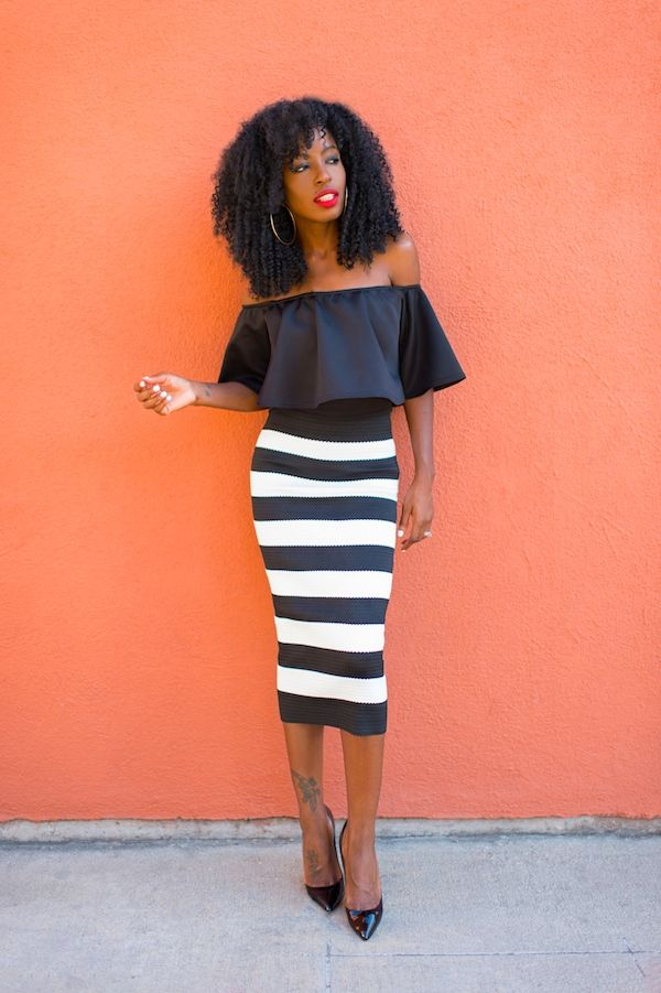 f8f67b4f38b Crop Swing Top + Striped Midi Pencil Skirt (Style Pantry) | Bloggers ...