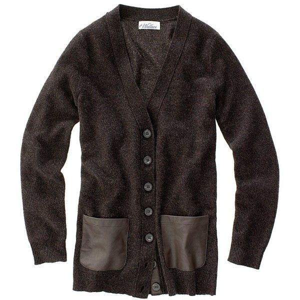 Madewell Bookworm Cardigan.  Black leather pockets and band.