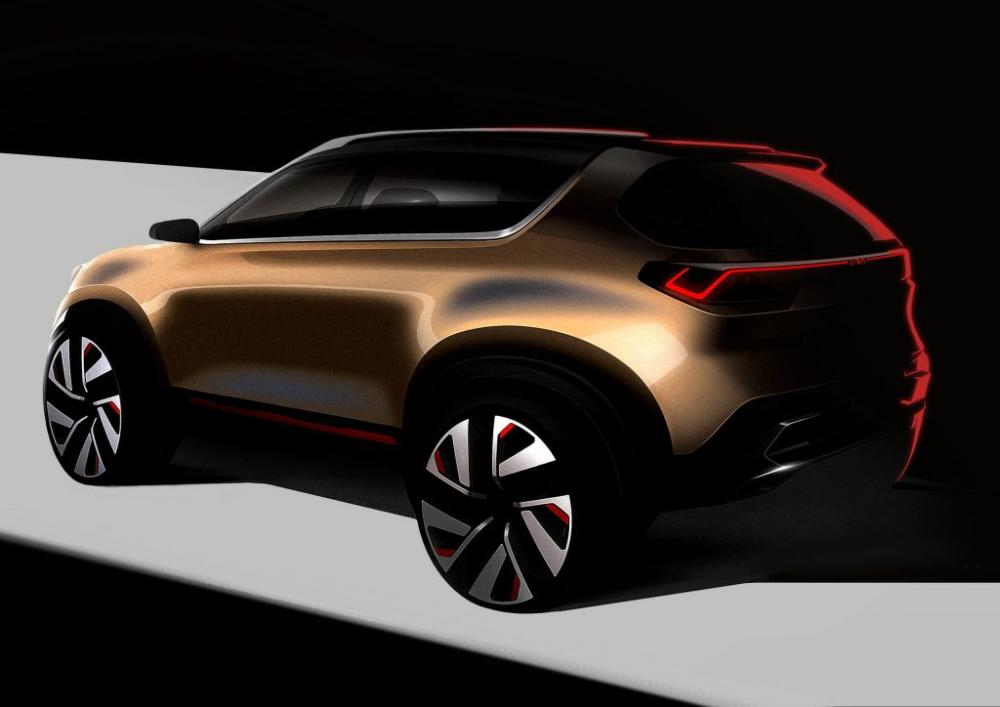 New Kia Compact Suv Concept Teased For India S Auto Expo 2020 Carscoops In 2020 Compact Suv Kia Suv