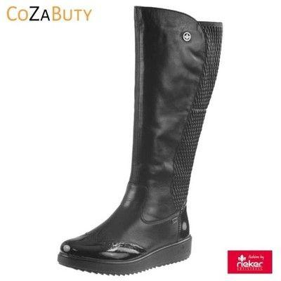 Kozaki Rieker Y5193 Czarne Cozabuty R 37 6577186496 Oficjalne Archiwum Allegro Boots Riding Boots Rain Boots