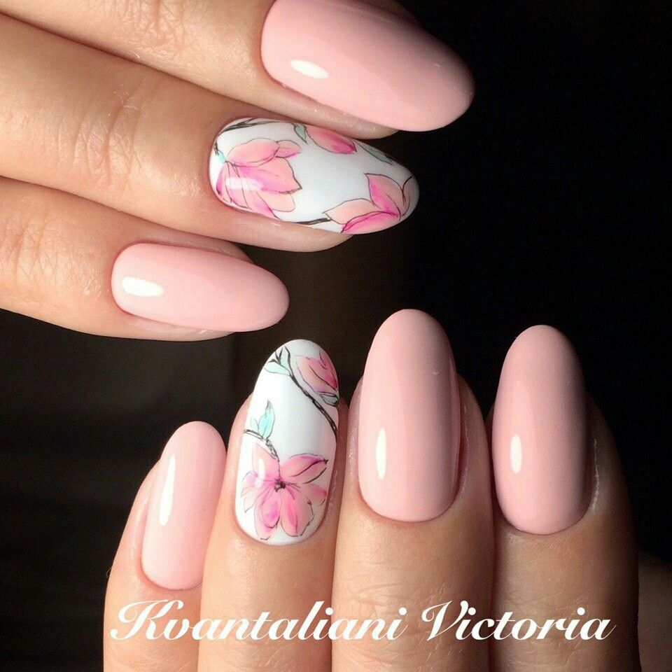 Pin de Natali Nails en Nail Designs: FLOWERS! | Pinterest | Diseños ...