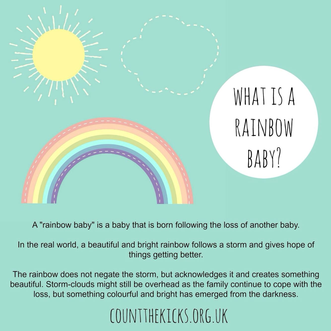 Positive thoughts for a rainbow baby in 2016! | Rainbow baby ...