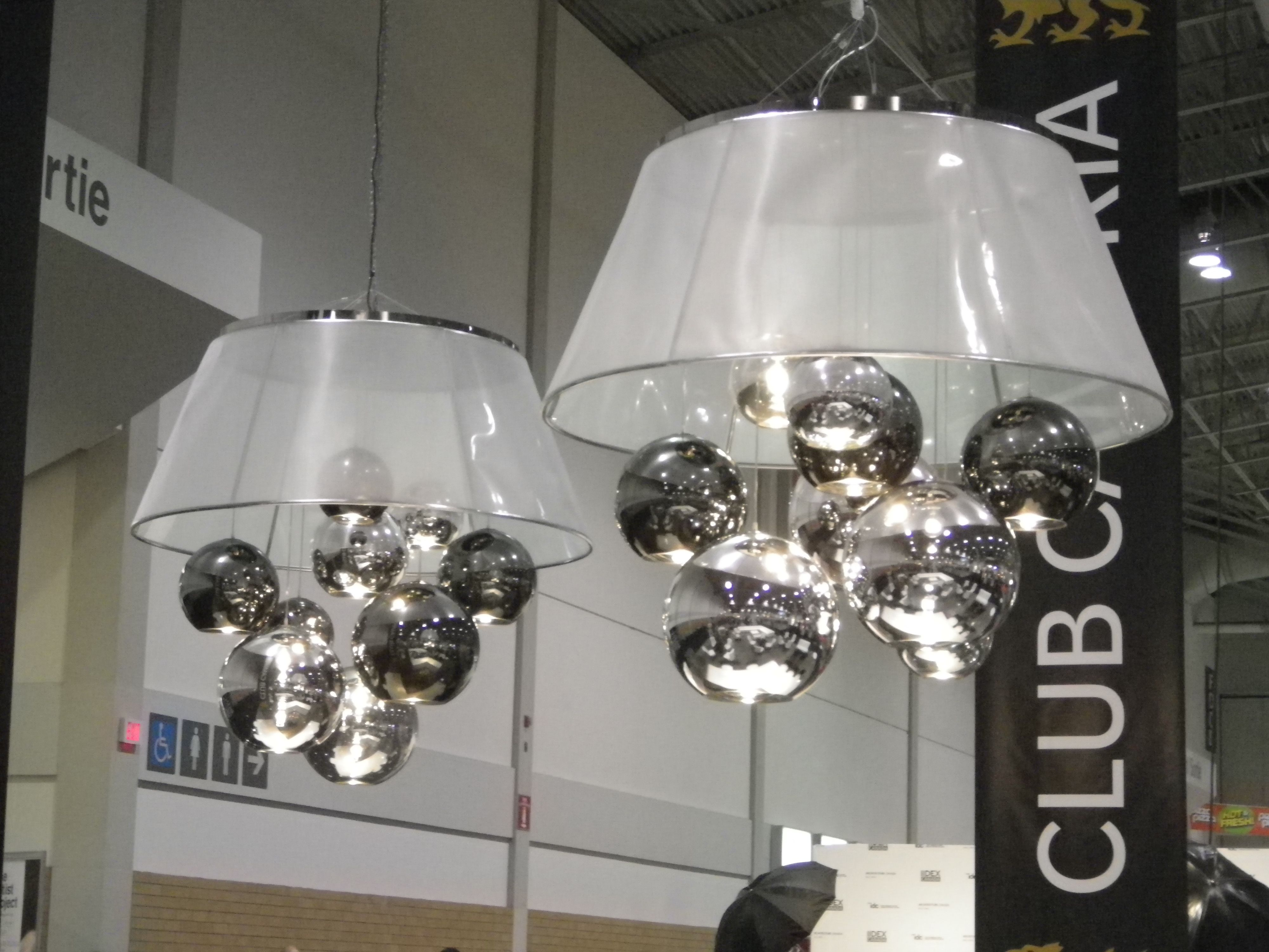 IIDEX 2013 Toronto: Awesome oversized modern chandeliers over Club ...