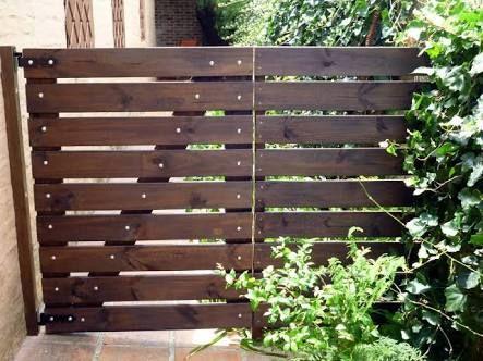 Resultado de imagen para cerca de madera para jardin puertas - cercas para jardin