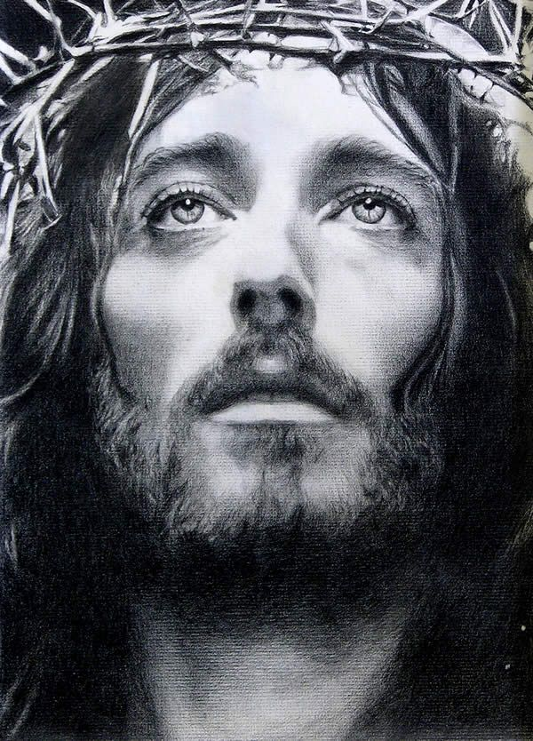 Sketch Of Robert Powell Playing Jesus In The 1977 Jesus Of Nazareth Movie The Artist Is Noel Cruz Jesus Pictures Jesus Christ