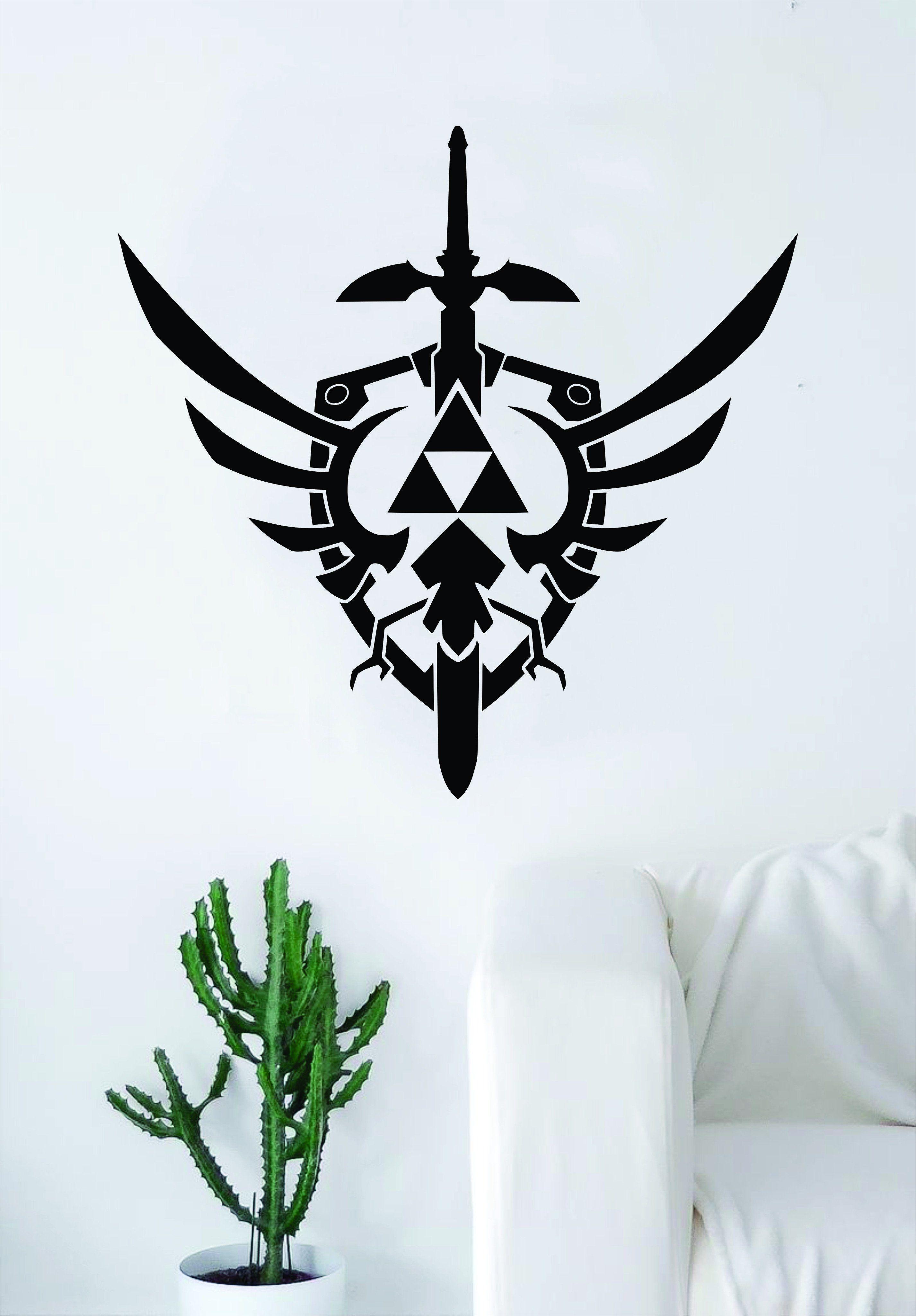 Video Games Legend Of Zelda Sword /& Shield Decal Vinyl Truck Car Sticker