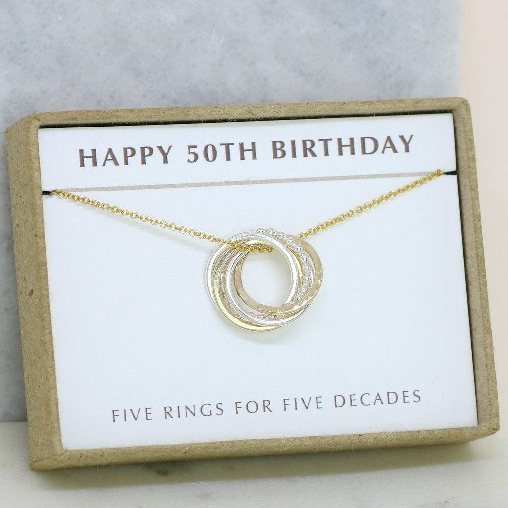 50th birthday necklace dainty necklace birthday
