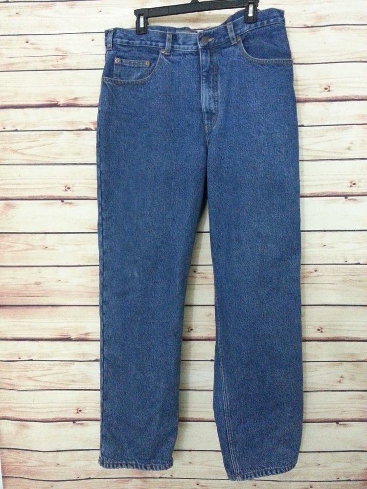 Eddie Bauer flannel lined Jeans Relaxed Fit mens size 36 X