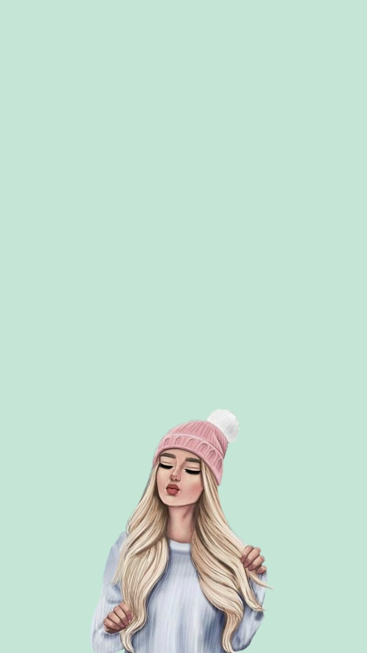 Pin By Roona On Background Wallpaper Girls Cartoon Art Girl Cartoon Cute Girl Wallpaper