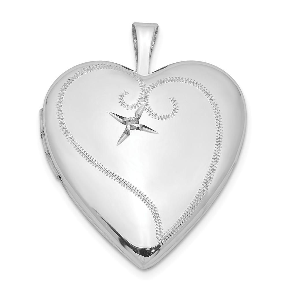 Bonyak Jewelry Sterling Silver Rhodium-Plated Stamped Initial P Charm
