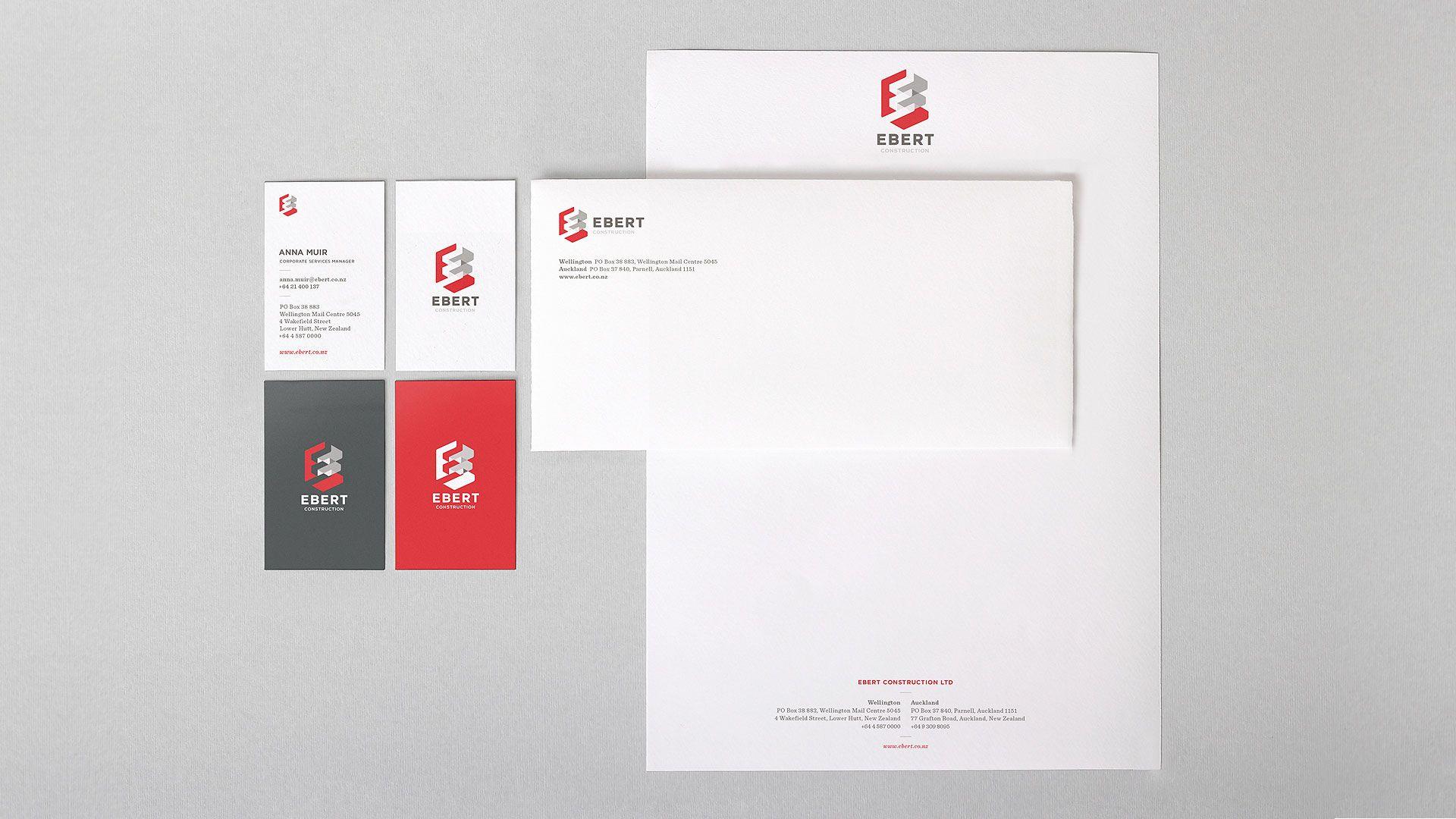 ebert, building, construction, business card, brand rejuvenation ...