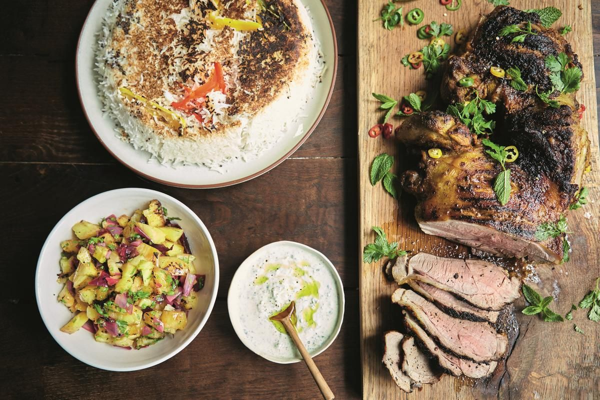 Jamie Oliver 15 Minuten Küche Video Jamie Oliver S Gunpowder Lamb With Pineapple Salsa Coconut Rice And A Mint Dressing