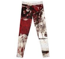 #Leggings #red #floral #colorblock #redubble Buy this artwork on other products & prints. #kristadroop