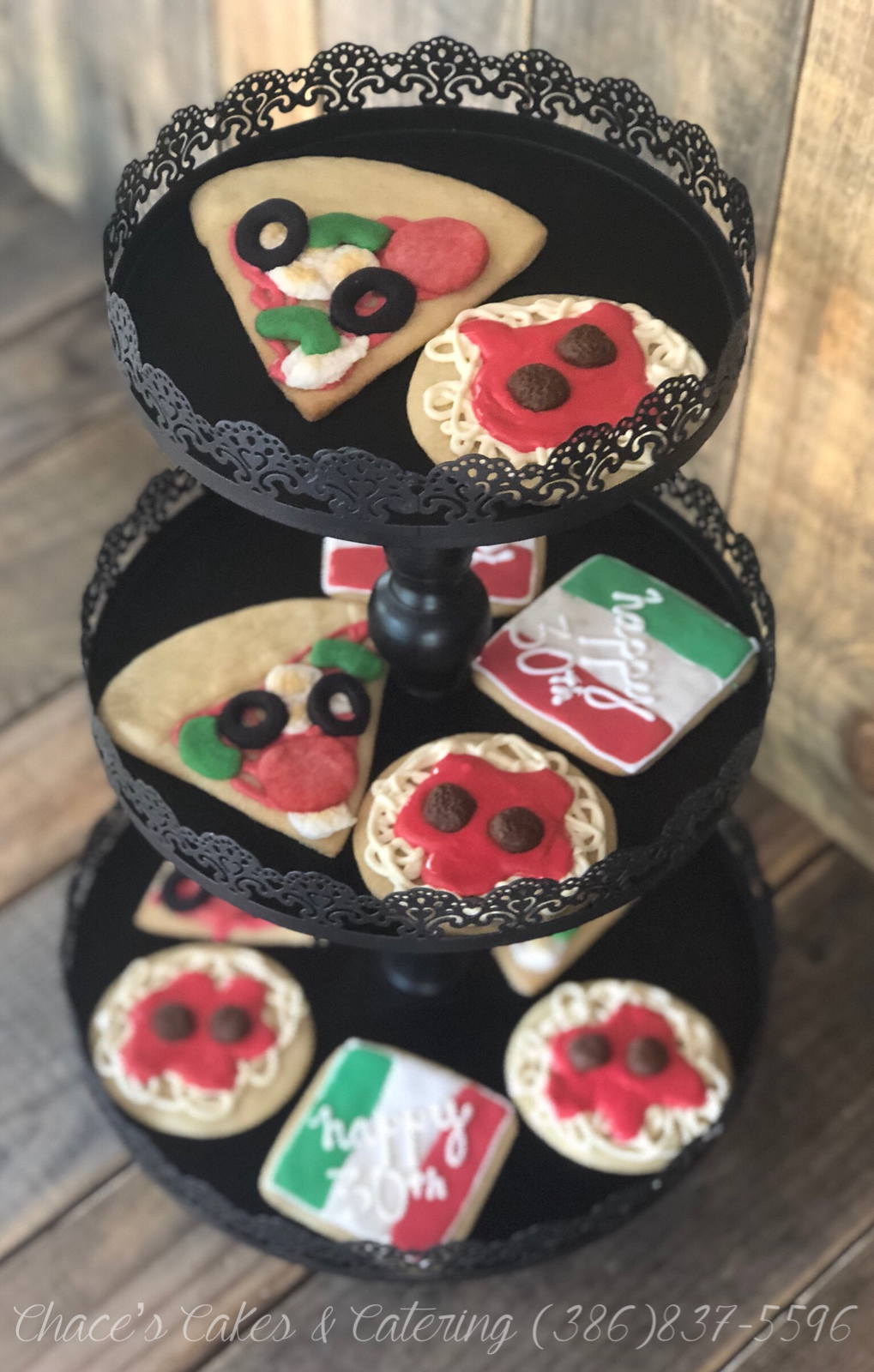Italian Theme Pizza & Spaghetti Cookies (With images