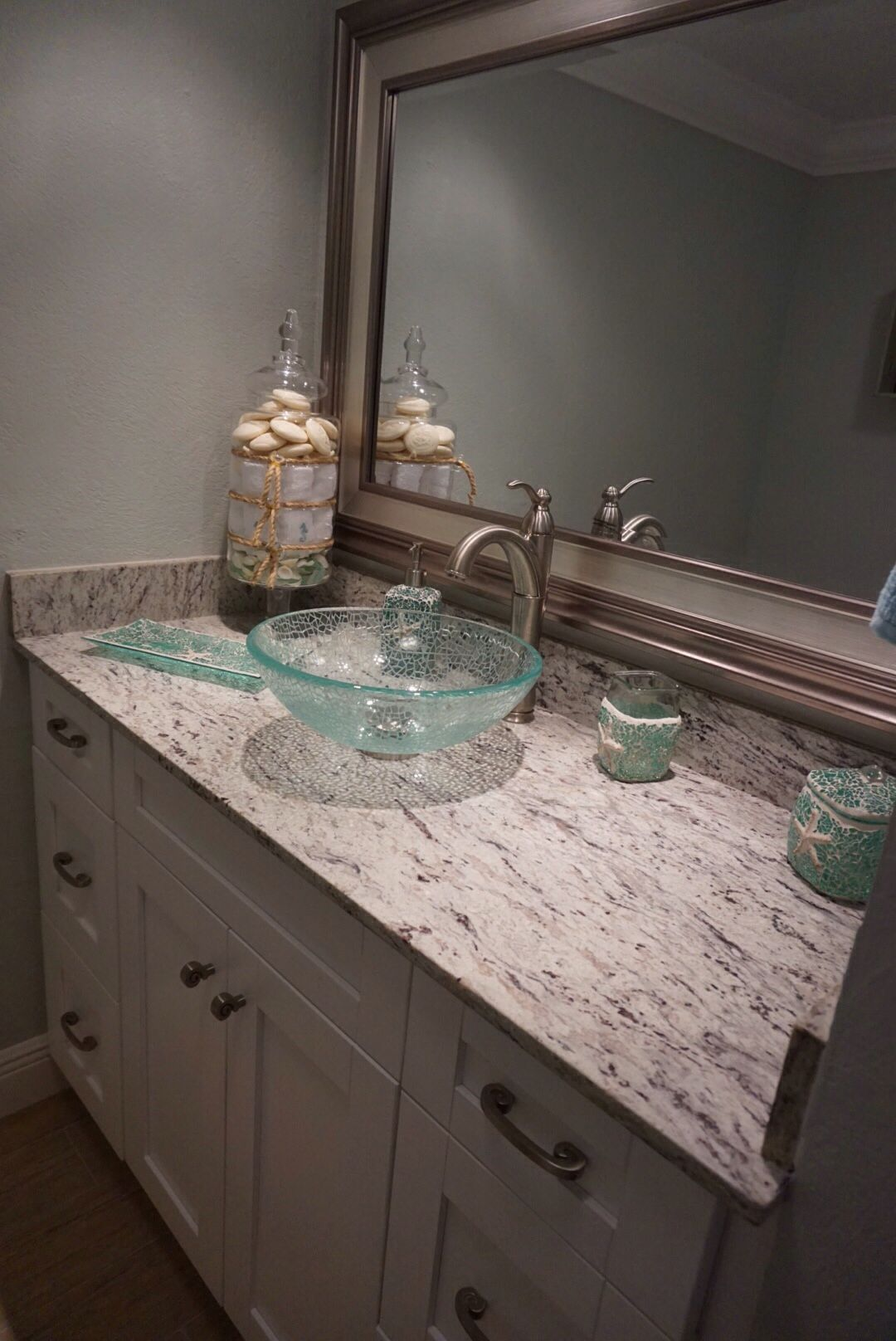 Granite colors for bathrooms - Power Bathroom River White Granite Bath Accessories From Home Goods Paint Color Sw