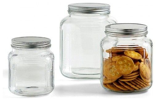 Glass Containers With Lids For Food Storage Simple Glass Jars With Aluminum Lids $399 At The Container Store  Perfect Design Decoration