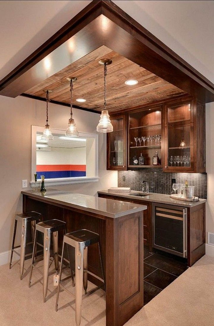10 Brilliant Home Remodel Ideas You Must See Small Basement Remodel Kitchen Bar Design Small Basement Bars