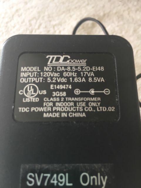 TDC DA-20-24 Power Supply Adapter 24VAC 0 83A OEM | eBay