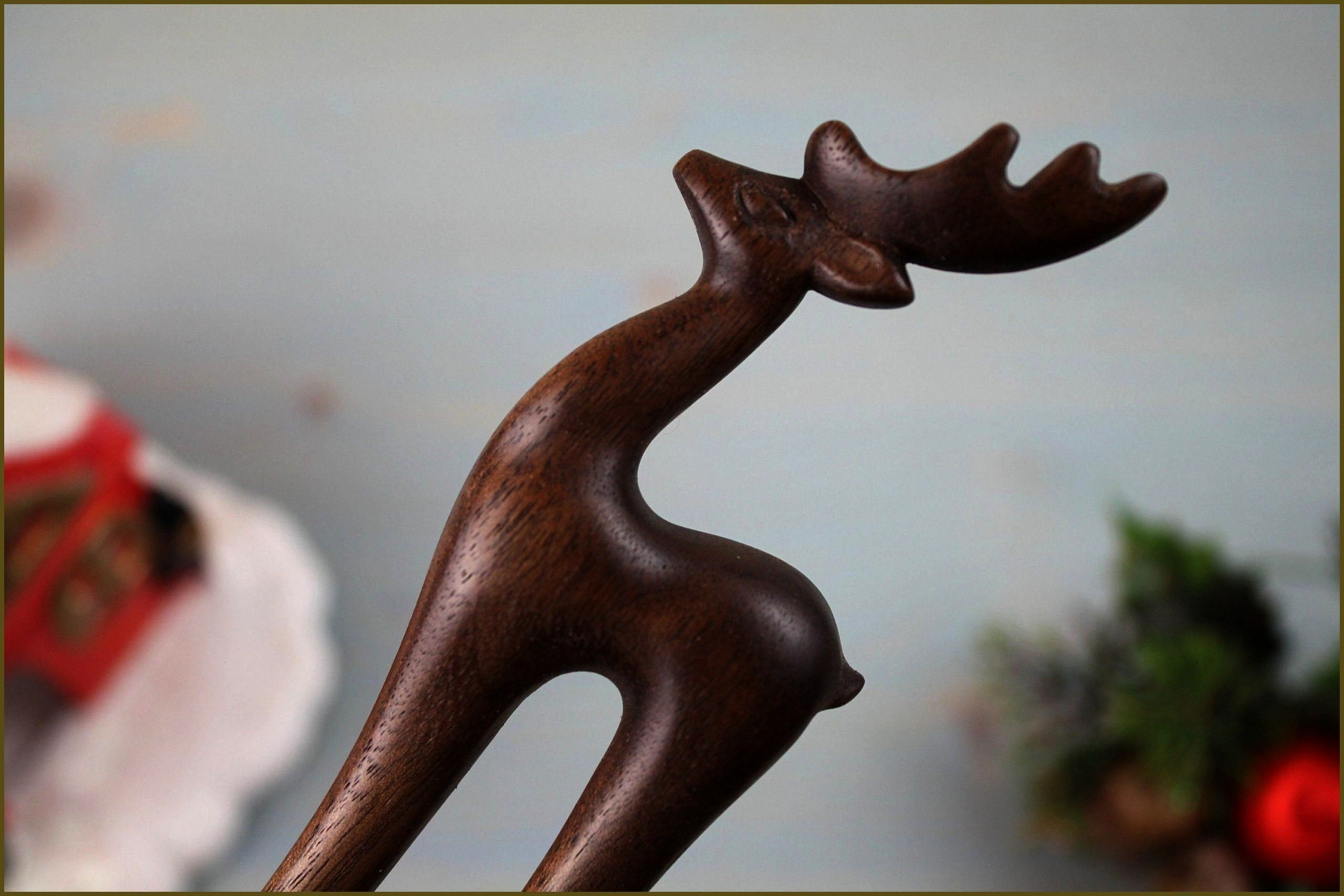 Deer Hair Fork, Christmas Hairpin, Deer Hair Stick, Christmas Hair Accessories for Wom... Walnut Deer Hair Fork, Christmas Hairpin, Deer Hair Stick, Christmas Hair Accessories for Women, Gift for Daughter, Bun Holder, Wood Hairpin,Walnut Deer Hair Fork, Christmas Hairpin, Deer Hair Stick, Christmas Hair Accessories for Women, Gift for Daughter, ...