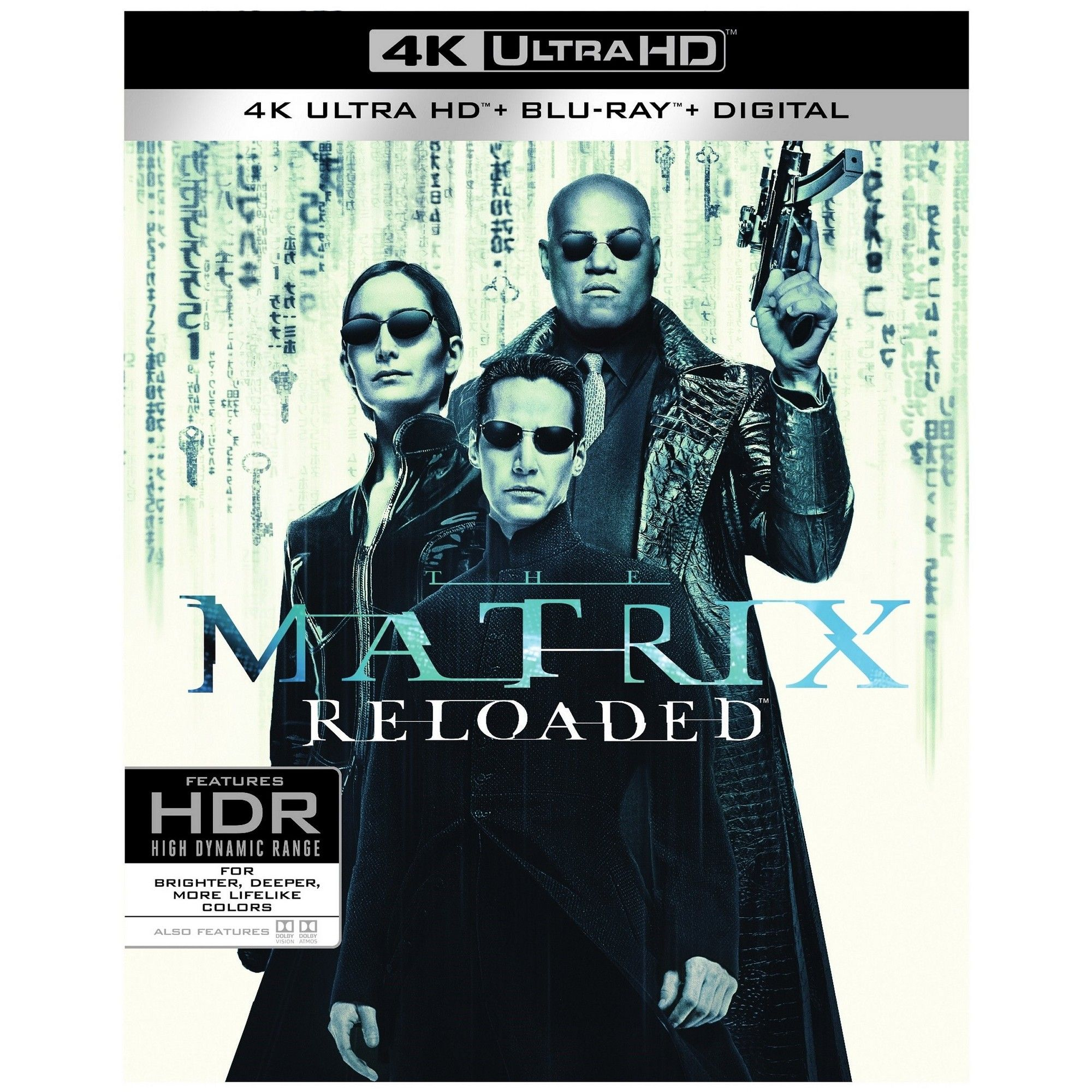 The Matrix Reloaded 4k Uhd Matrix Reloaded Matrix Blu Ray