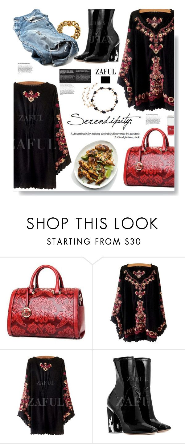 """""""Zaful.com: Serendipity!"""" by hamaly ❤ liked on Polyvore featuring Christian Dior, women's clothing, women, female, woman, misses and juniors"""
