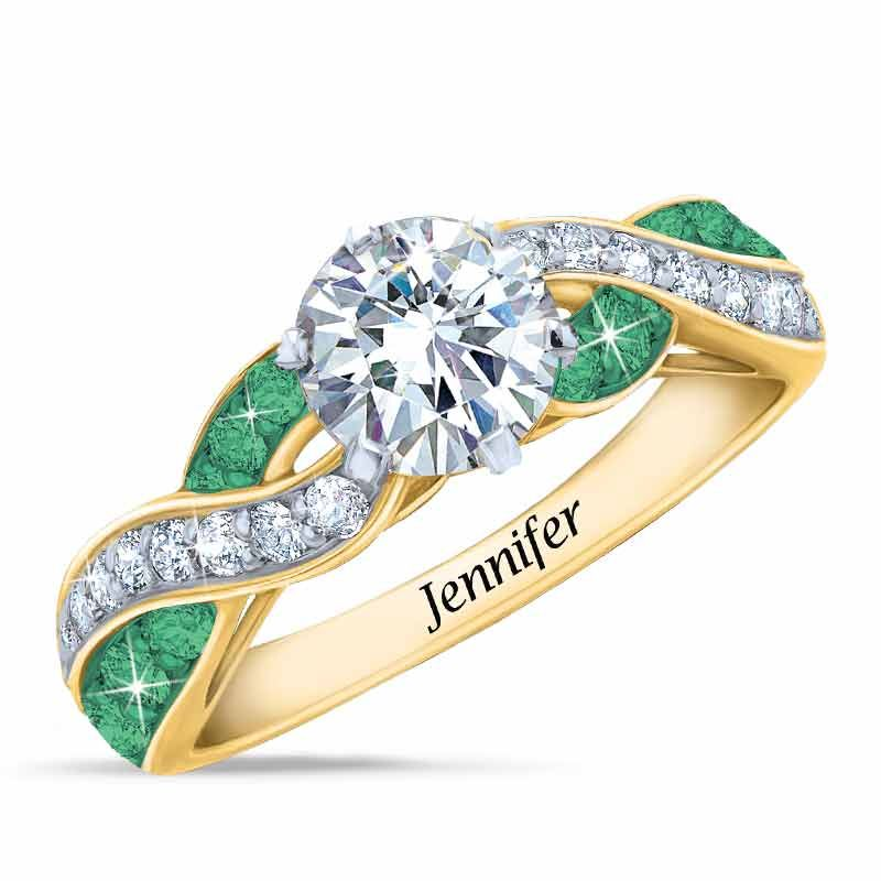 3cd912025df700 The ring you were born to wear... Crowned with a 1-carat Diamonisse  simulated diamond stone Adorned with 12 genuine Swarovski crystal birthst.