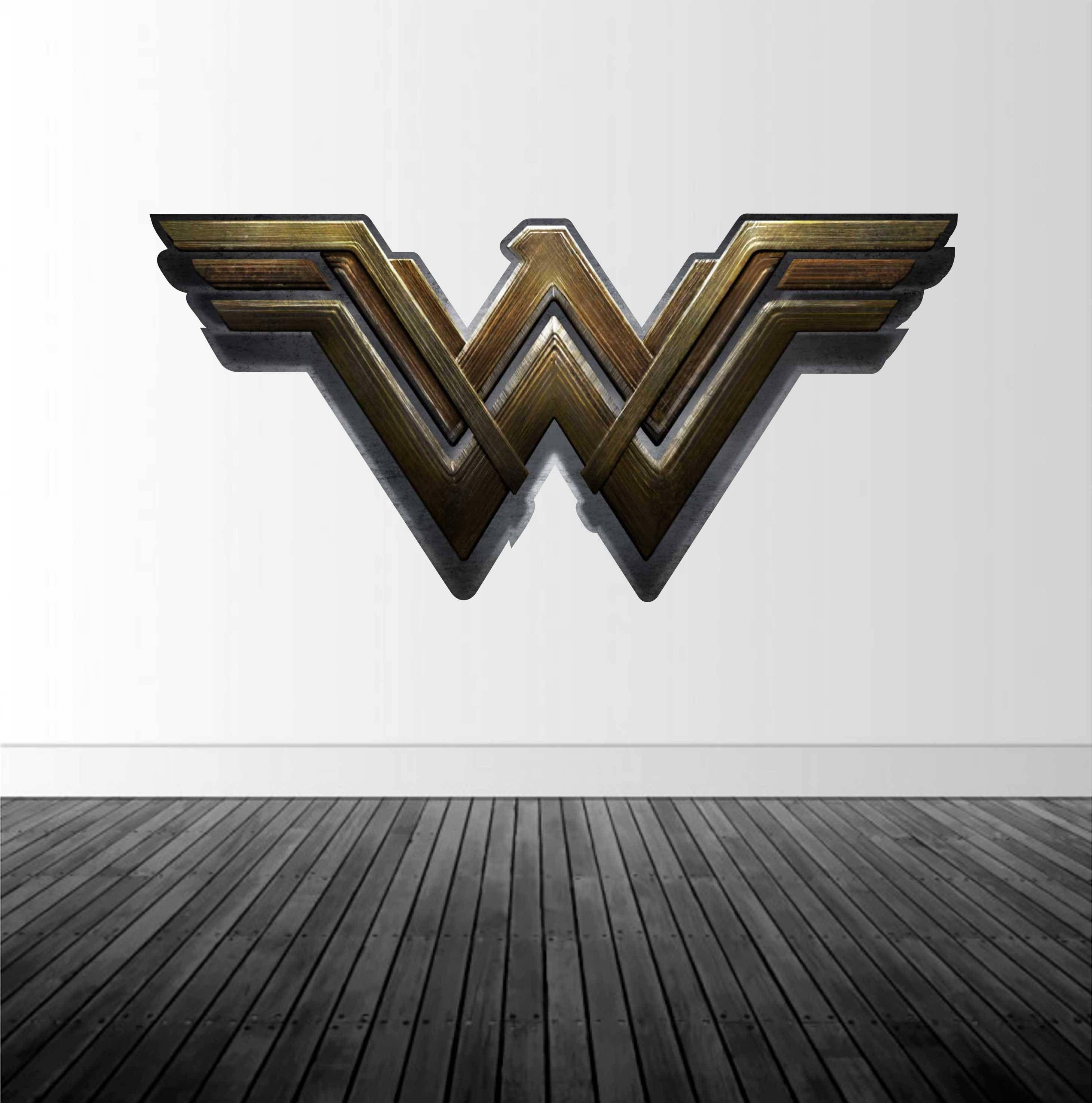 Wonder Woman Logo, Wonder Woman Decal, Vinyl Wall Decal ...