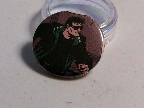 """Comic Book 1.5"""" Button// Hitman (Tommy Monaghan), $1.00"""