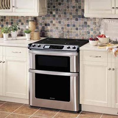 Sharp 30 Electric Convection Slide In Range W Microwave Drawer Stainless Steel