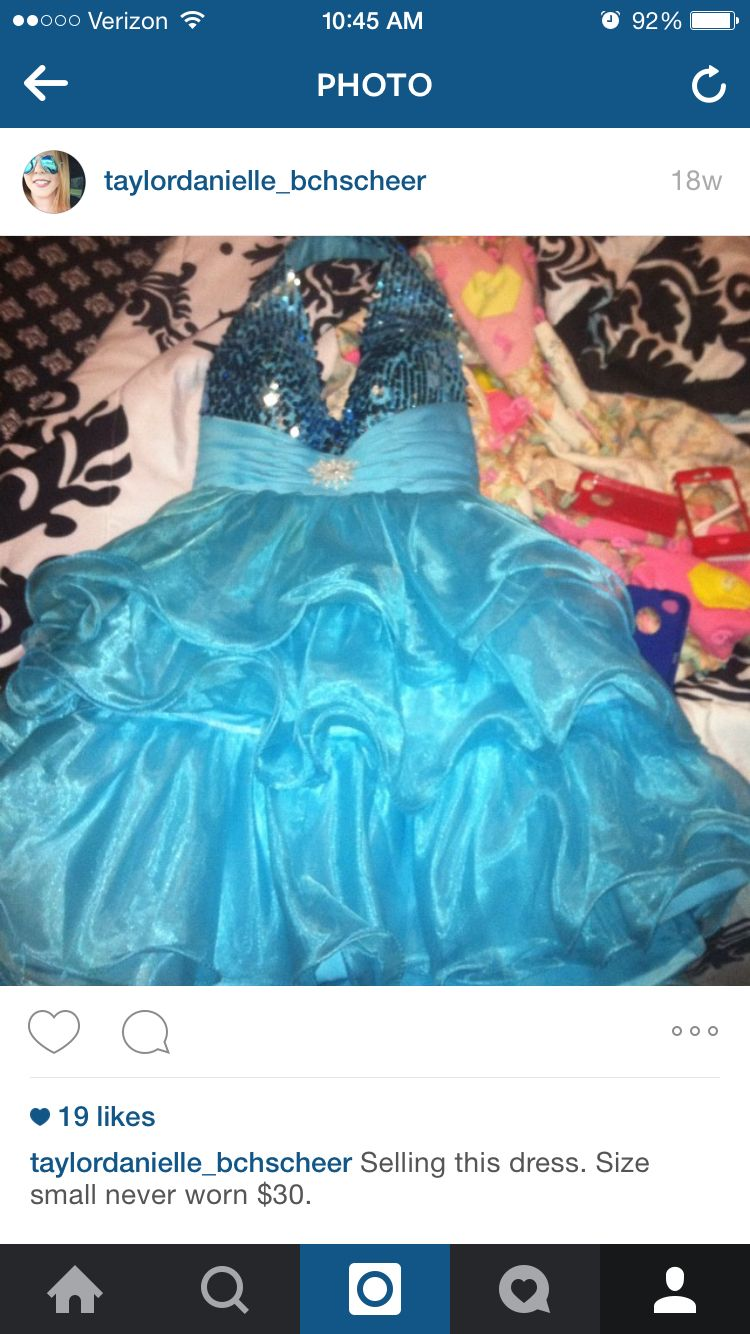 Bought this dress about a year and a half ago  I was going to wear it for spirit week but changed my costume so it has never been worn. It is a size small. I paid $70 and am asking $30 but may change the price. Let me know if you're interested.