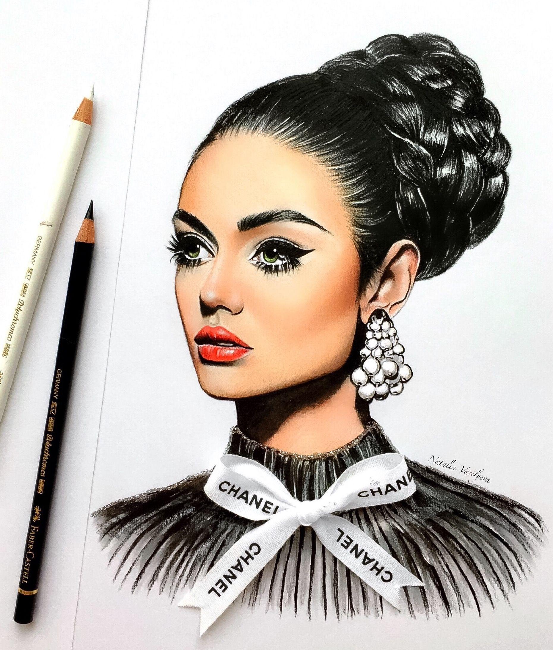 Natalia Vasilyeva   Girls draw   Pinterest   Dibujo, Lápiz y Rostros