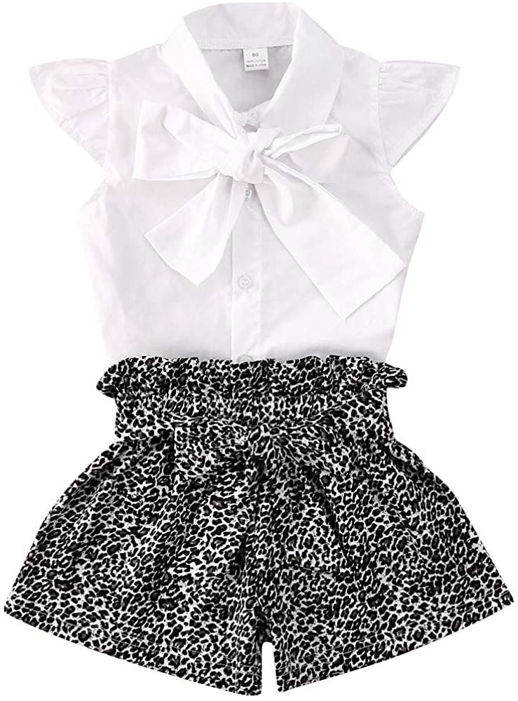 Toddler Baby Girl Clothes Halter Ruffle Top+Floral Shorts Pants 2PCS Summer Outfit Set