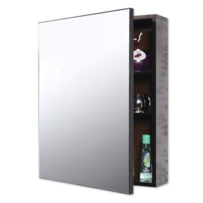 Gabinete wenge ala batiente espejo 40x50 Repisas de bano homecenter