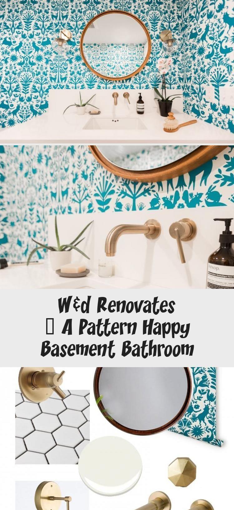 W&d Renovates – A Pattern Happy Basement Bathroom - Bathroom#basement #bathroom #happy #pattern #renovates