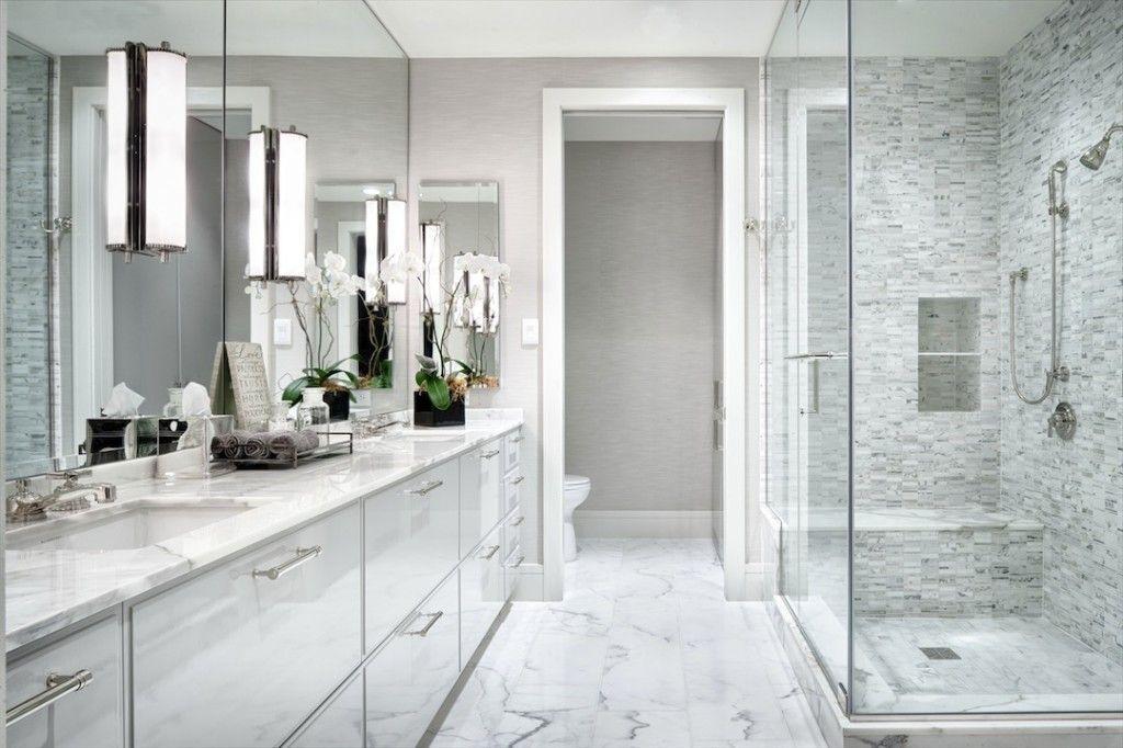 25 Modern Luxury Master Bathroom Design Ideas Contemporary Master Bathroom White Master Bathroom Modern Master Bathroom