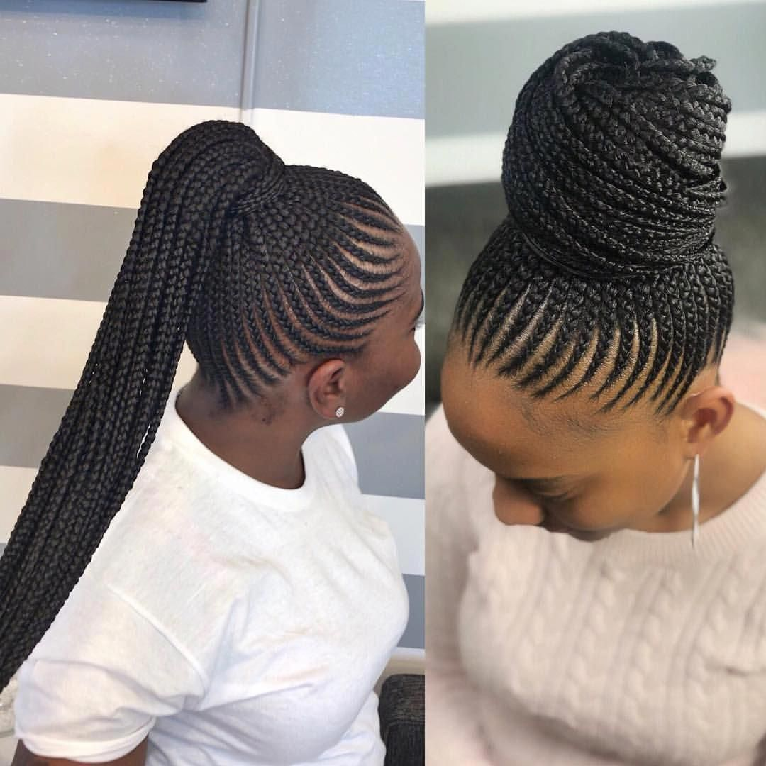 Same Style Worn Two Different Ways Are You A Bun Or Ponytail Personally I Love A Nice Big Cornrows Hairstyles Braided Cornrow Hairstyles Cornrow Hairstyles