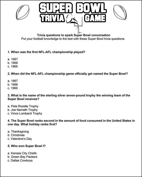 Print  play! DIY printables Football trivia, Trivia games