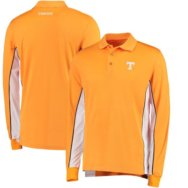Tennessee Volunteers Colosseum Chip Shot Long Sleeve Polo - Tennessee Orange - $44.99