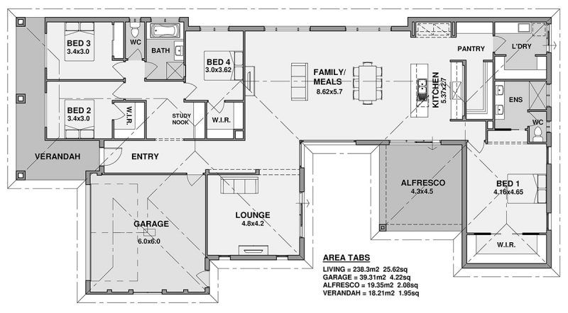 Floor Plan Friday 4 Bedroom Verandah Natural Light Floor Plans House Plans 4 Bedroom House Plans