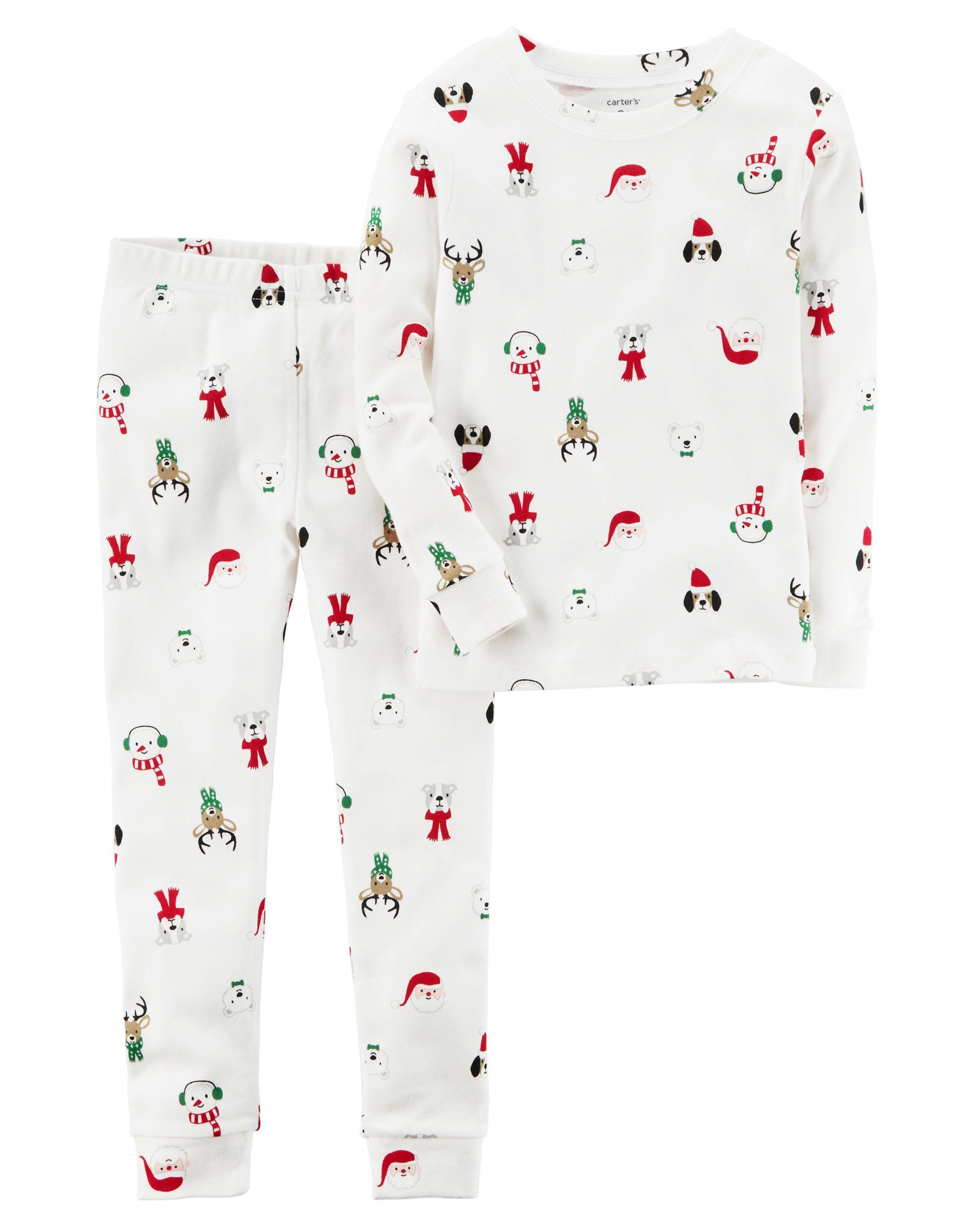 57a024ed27 Baby Boy 2-Piece Christmas Snug Fit Cotton PJs