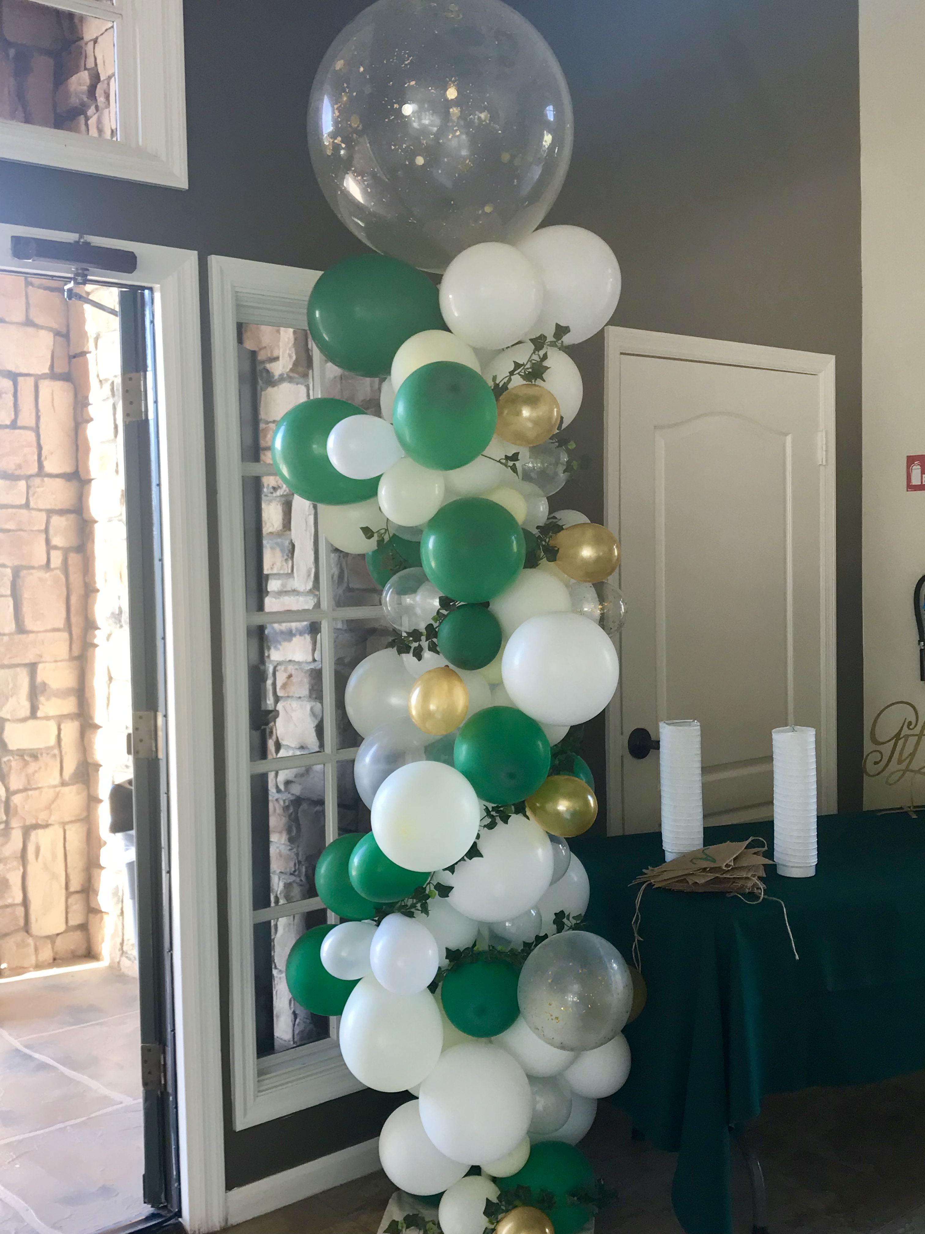 Abstract Organic Balloon Column Balloons For Weddings Greenery