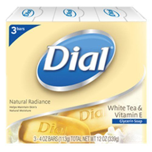Dial Natural Radiance White Tea And Vitamin E Glycerin Soap 4 Ounce 3 Count By Dial 8 49 White Tea Vitamin E Fragrance Free Products White Tea Vitamin E