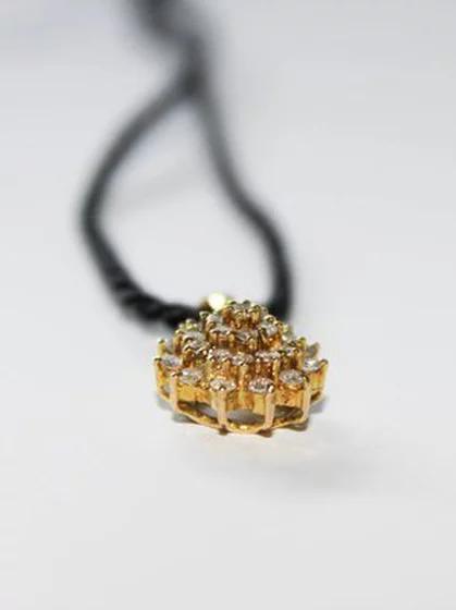 قلادة ألماس ديانا عيار 18 Maryam Co Rope Bracelet Jewelry Earrings