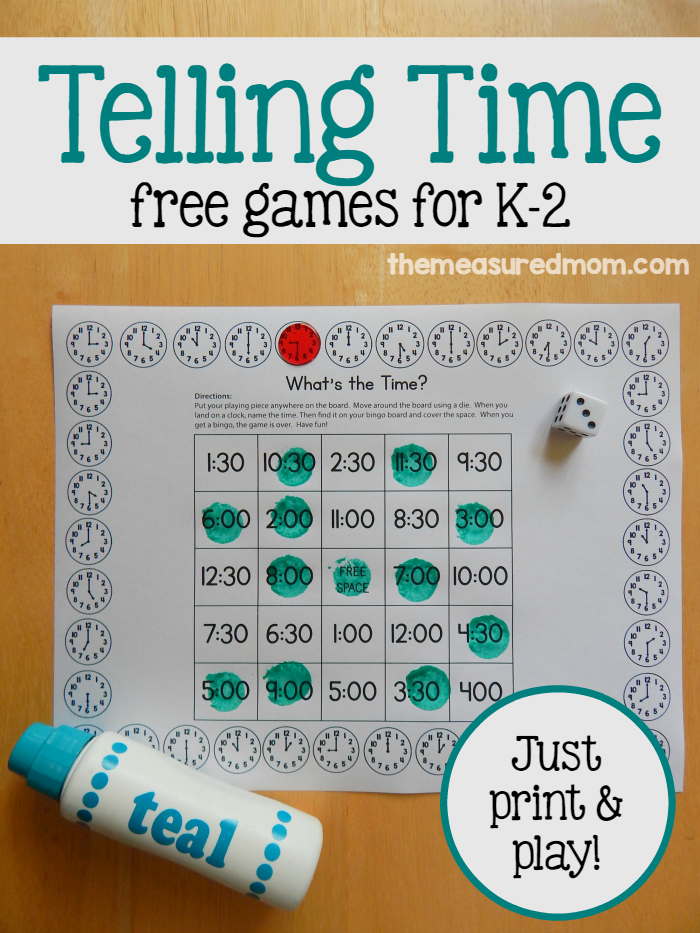 Free telling time games for K-2 | Pinterest | Time activities ...