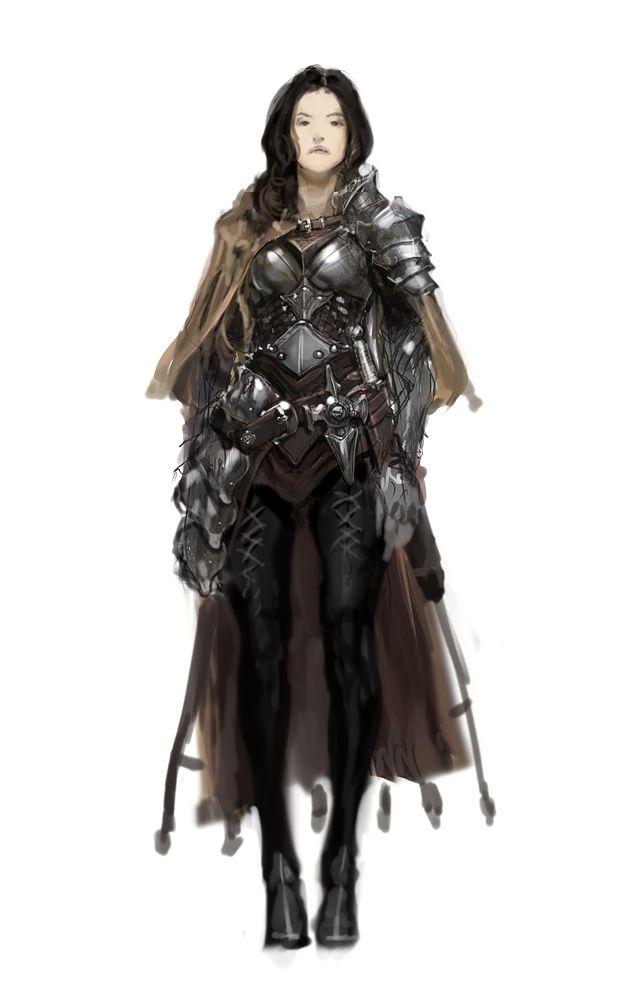 Female fighter. See?!!! This is how all women warriors should dress up for battles!!! Except for the heels on the boots.