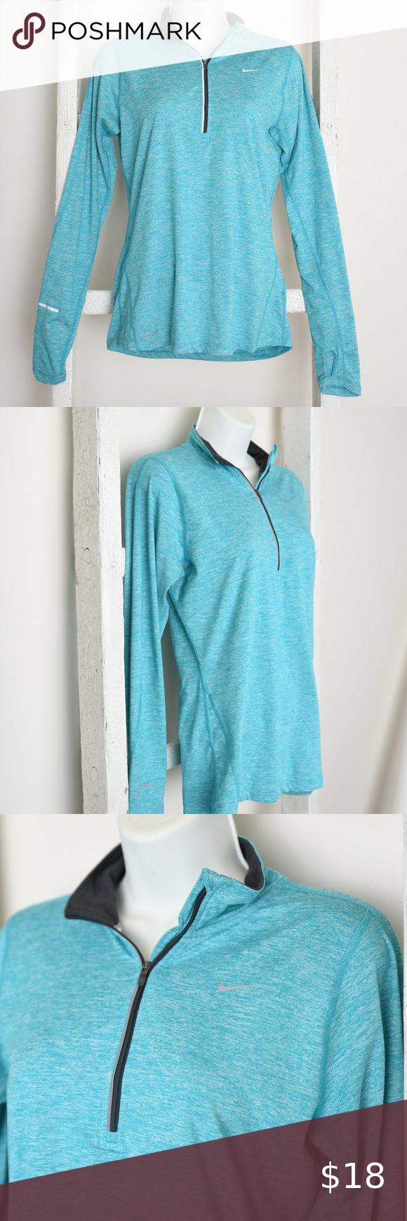 Women S Aqua 1 4 Zip Nike Pull Over Long Sleeve Clothes Design Sleeves Women [ 1740 x 580 Pixel ]
