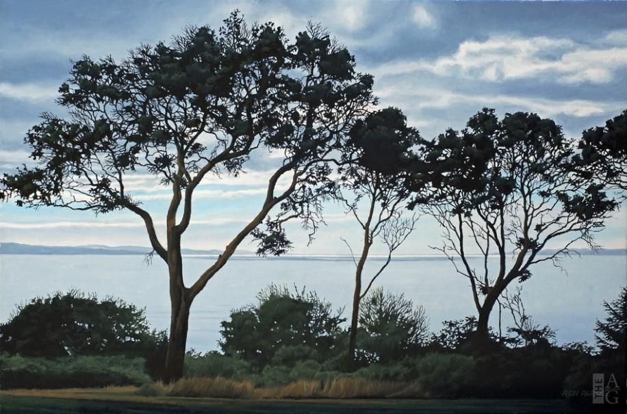 Ron Parker - Arbutus Silhouettes - oil on canvas - 16 x 24