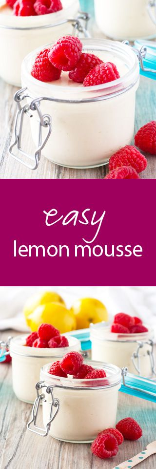 easy, fresh lemon mousse topped with fresh fruit | ahappyfooddance.com