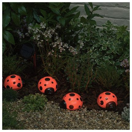 Smart Solar Ladybug Solar Lights #garden #lighting Www.zansaar.com